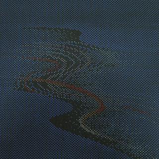 送料無料 B反 本場大島紬 経緯絣 5マルキ 着尺 反物 久野織物(1866)  − 奈良県