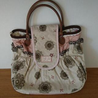 【美品】マザーズバッグ 大容量 ハンドバッグ