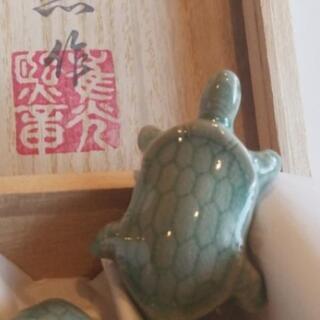 青磁 箸置き 6コ かめ 韓国