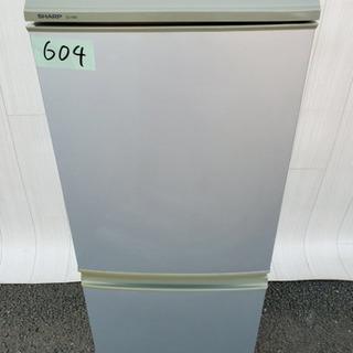 604番 SHARP ✨✨ノンフロン冷凍冷蔵庫❄️SJ-14M-S‼️