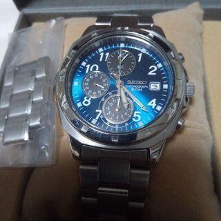 激安。委託品。SEIKO海外モデル逆輸入品❢クロノグラフタイプ腕時計。