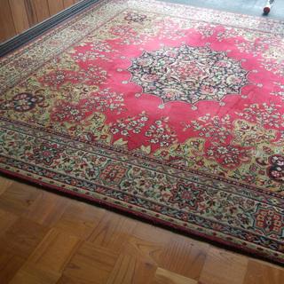 《姫路》高級リビング絨毯☆赤ペルシャ絨毯☆
