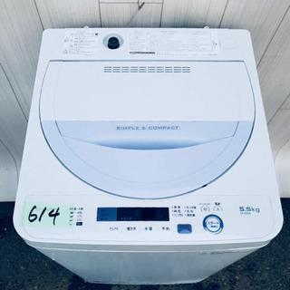 2016年製‼️614番 SHARP ✨全自動電気洗濯機⚡️ES...