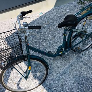 ※取引中※ 26インチ LEDオートライト付自転車 グリーン 外...