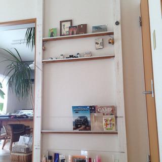 自作の飾り棚 マガジンラック