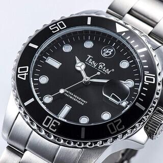 Troy Bros 腕時計 三針 文字盤ブラック  【新品】