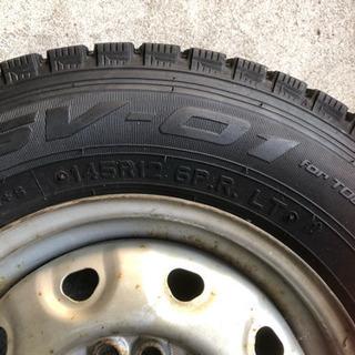 スタッドレスタイヤ ホイール マルチ 145 R12 6PR