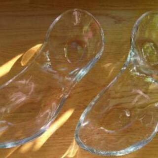 【美品】皿 セパレート ガラス 2枚セット