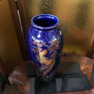花瓶 壺 ブルー
