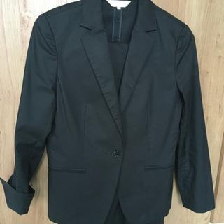 黒 パンツスーツ 11号くらい 洗濯機で洗える