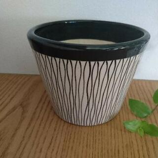 北欧風 鉢 陶器製 モノクロ オシャレ インテリア