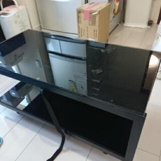 テレビ台 ガラストップ 中古  80cm×40cm 無料