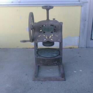 昭和レトロ 手動 かき氷機 鋳物 インテリアに