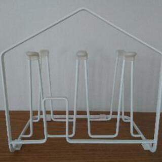 大幅値下げ グラススタンド 白 鉄製 キッチン カップスタンド