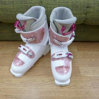 KAZAMA スキーブーツ 24.0cm 子供用 ピンク/ホワイ...