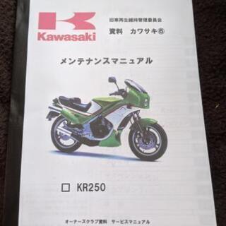 カワサキ KR250 メンテナンスマニュアル