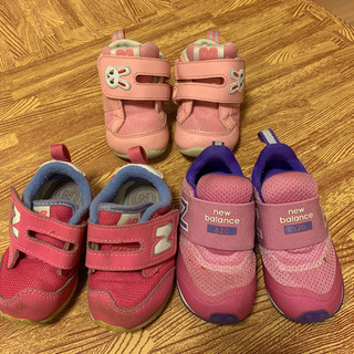 12〜12.5cm 子供用靴3足セット(ニューバランス 、ミキハ...