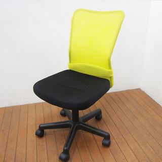 オフィスチェア メッシュチェア グリーン 2台あり (CA06)