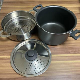 25x15cm 鍋と蒸し器セット
