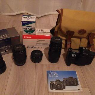 フィルムカメラ本体一式。 本体Cannon EOS 650 、収...