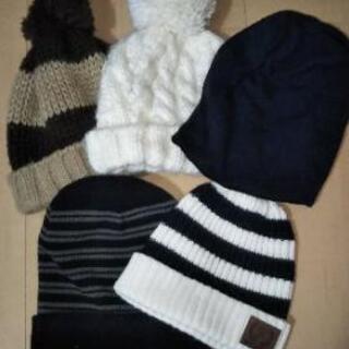 ニット帽&コットン帽子