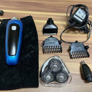 シェーバー電動 3枚刃髭剃り トリマーと鼻毛カッター付き防水仕様