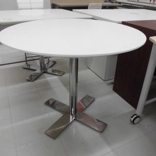 丸テーブル テーブル ホワイトテーブル 幅:90㎝ 苫小牧西店