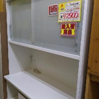 1115-10 2面食器棚 レンジボード スチームオーブン対応 ...