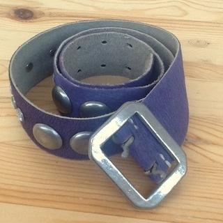 ベルト//紫