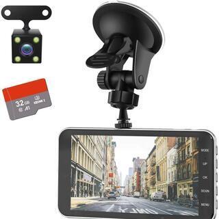 商談中【新品半額】ドライブレコーダー 前後カメラ [32GB S...