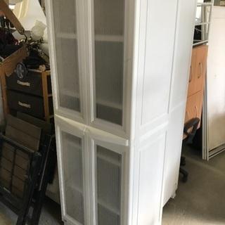 収納棚  ホワイト プラ