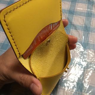未使用 本革カード&ミニウォレット 猫の刻印  − 沖縄県
