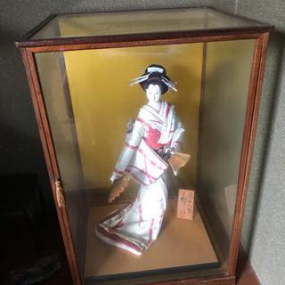 尾山人形 ガラスケース付き
