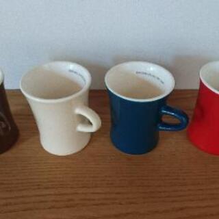 陶器製 マグカップ 4つセット