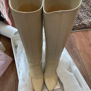 ダイアナ革製ロングブーツ 23.5cm