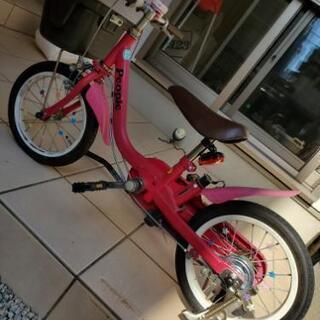 子供用自転車(補助輪、手押しバー付き)