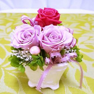 薔薇とあじさいのフルール【パープル】