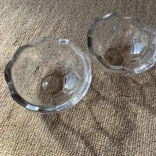 サッカーボール柄ガラスの器2個セット