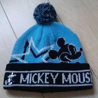 子供服・子供帽子・ニット帽・52-56㌢・ミッキー