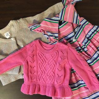 GAP & Ralph Lauren 女の子ピンク冬セーター、ベビー服