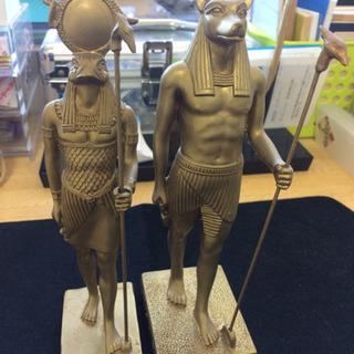 【取引中】エジプト アヌビス・ホルス像