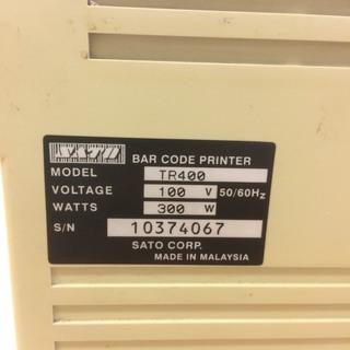 SATOのTR400印字機 お譲りします。
