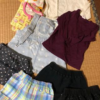 80 女の子 スカートパジャマ等セット