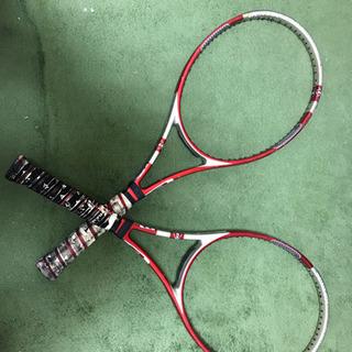 テニスラケット ダンロップ 2本 赤×銀