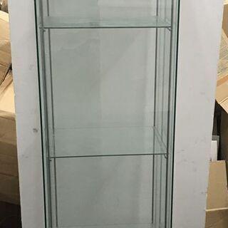 IKEA 4段 ガラスケース ショーケース 飾り棚 フィギ…