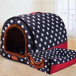 ドッグハウス ペットハウス 2WAY ドーム型 ベッド 犬 ペッ...