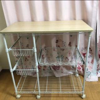 レンジ 炊飯器用 収納棚 ワゴン キッチン 台