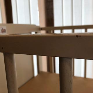 【交渉中】ハイタイプミニベビーベッド (メーカー キンタロー) - 子供用品