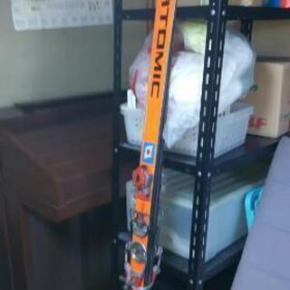 スキー板、ストック、靴、靴バッグ4点