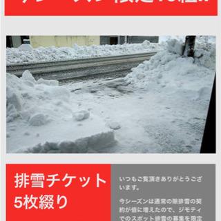 【格安排雪】今季限定10組〓排雪チケット5枚綴り〓